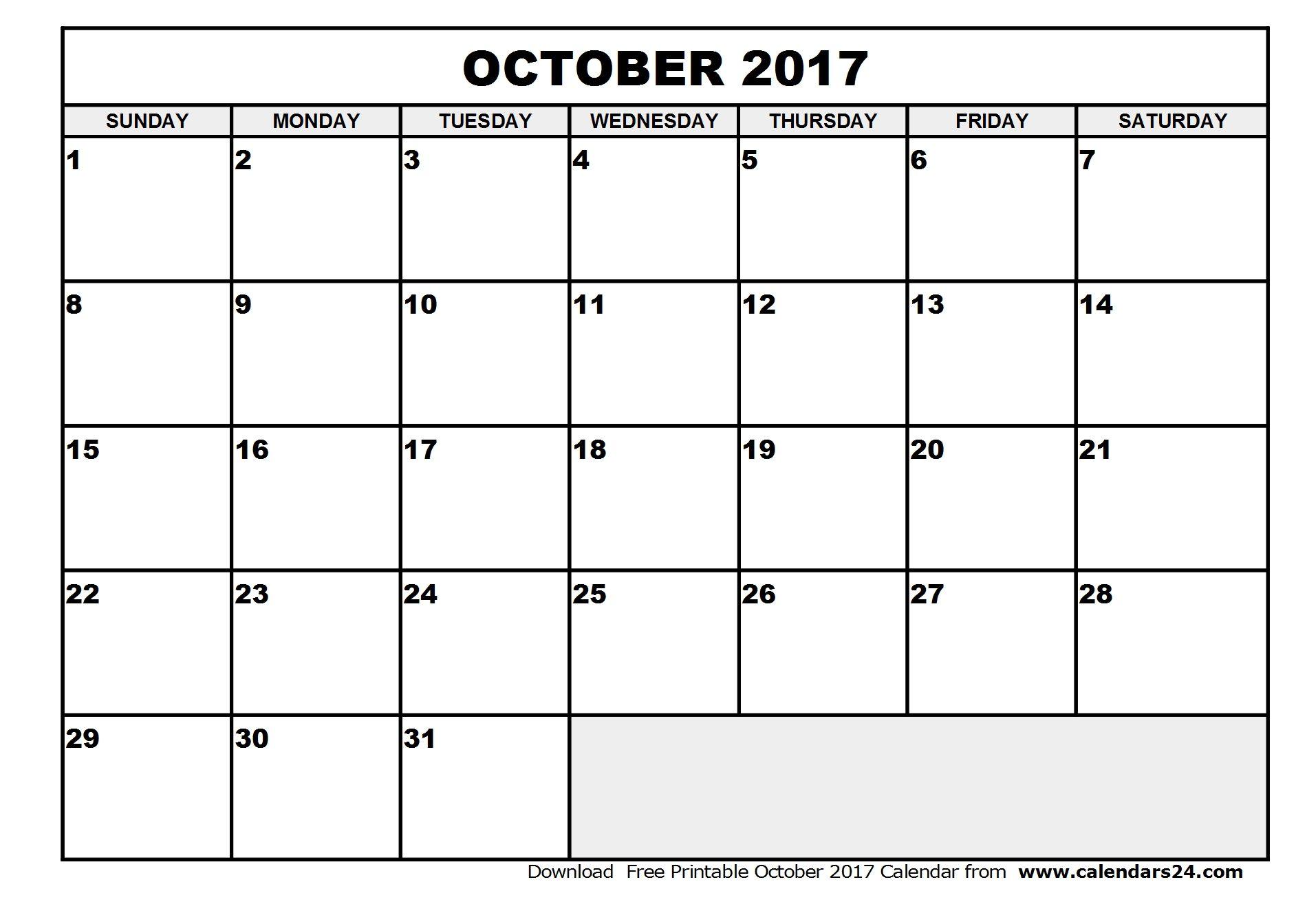 office calendar template 2017