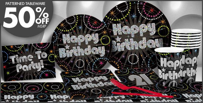 Time to Party 21st Birthday Party Supplies - 21st Birthday Decorations & Themes - Party City