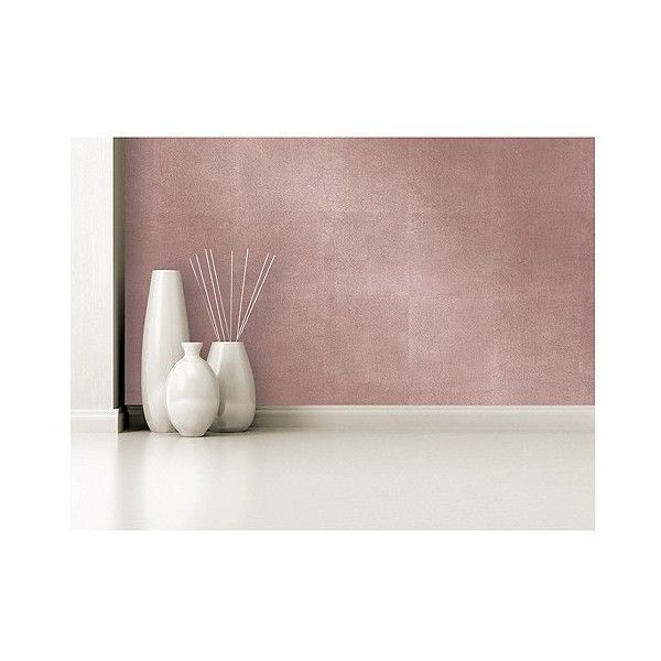 Devine Color Metallic Leaf Peel And Stick Wallpaper Rose Gold 30 Liked On Polyvore Featuring Home Home Decor Wallpaper Go Metallic Paint Walls Peel Stick Wallpaper Metallic Wallpaper
