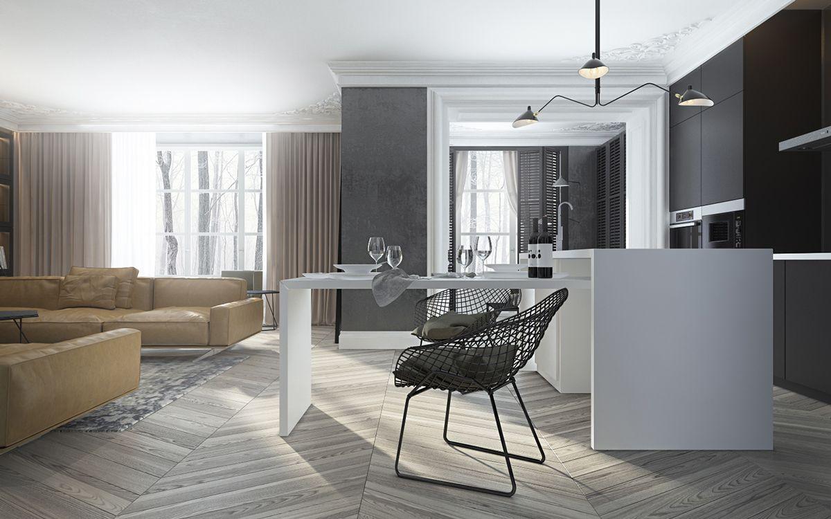Neue wohnzimmer innenarchitektur künstlerisches wohnzimmer design von elena ovcharenko  wohnzimmer