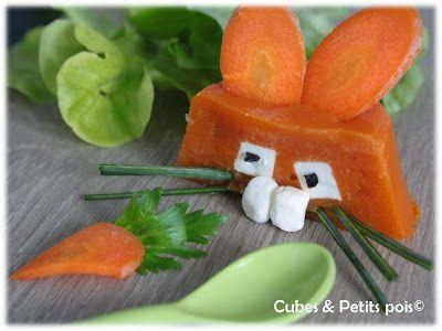 Recette de Pâques pour bébé, il adorera ce mignon petit lapin réalisé avec la carotte qu'il aime depuis longtemps et du fromage fondu.