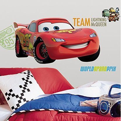 www.stickerenzo.nl | Muursticker - Disney Cars Lightning McQueen - 7 ...