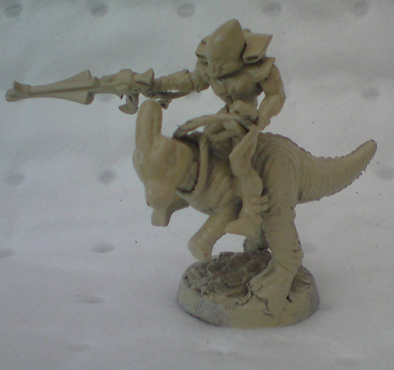 Eldar Exodite Warrior - Dinosaur rider custom kit bash 2019