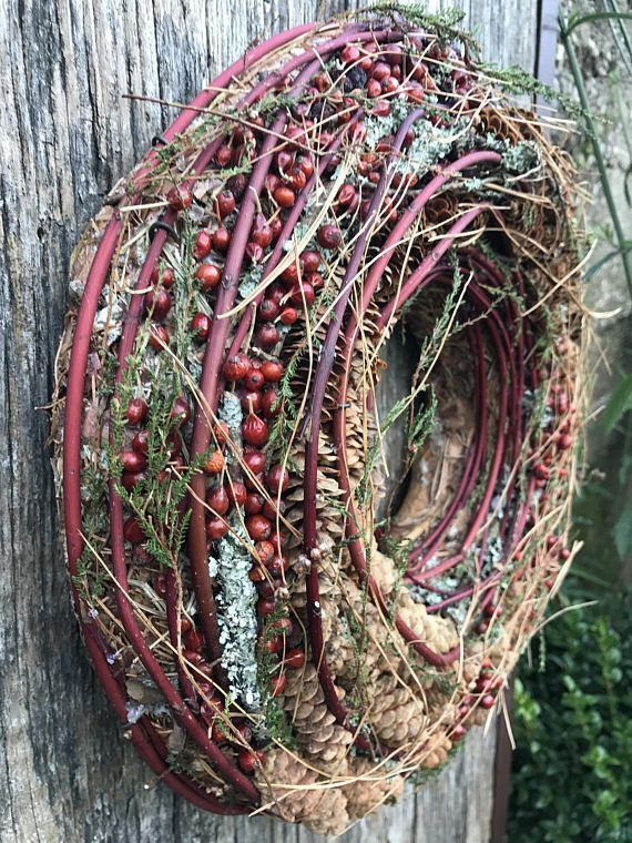Photo of Advent Wreath – Holiday Wreath – Natural Winter wreath – Winter Wreath -Christmas Wreath