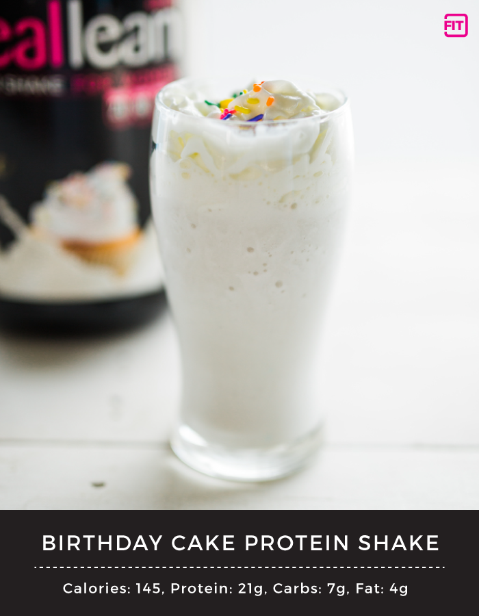 Birthday Cake Protein Shake Try Saying That Ten Times Fast It Doesnt Have To Be Your Enjoy This Sweet Treat