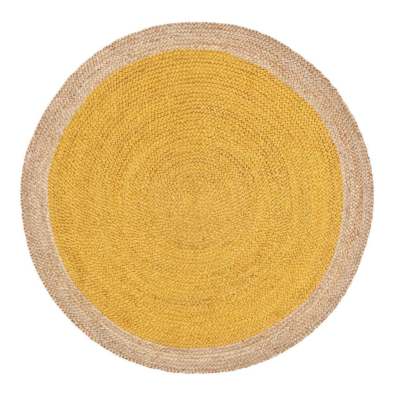 Bahama Yellow Round Jute Rug In 2020