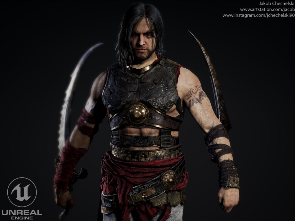 Artstation Prince Of Persia Warrior Within Unreal Engine Jakub Chechelski Prince Of Persia Warrior Within Warrior