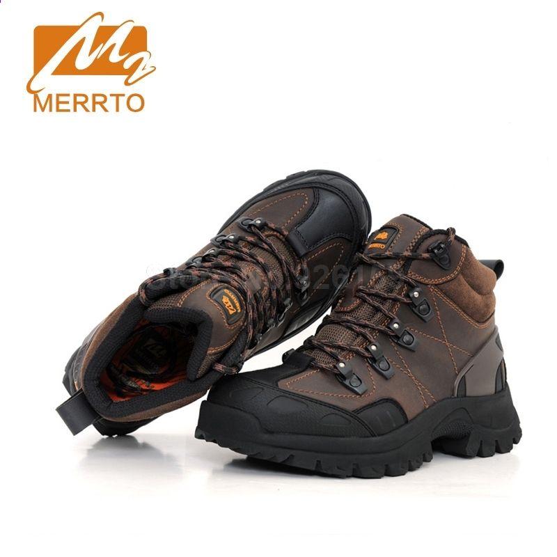 Merrto Buty Turystyczne Meskie Oryginalne Skorzane Buty Turystyczne Outdoor Buty Trekkingowe Mezczyzni Sneakers Buty Sportowe B Boots Hiking Boots Hiking Shoes
