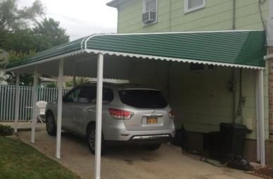 Aluminum Awning for a carport in brooklyn new york attached to a home & Aluminum Awning for a carport in brooklyn new york attached to a ...