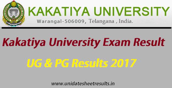 Kakatiya University Result University Result University Exam University