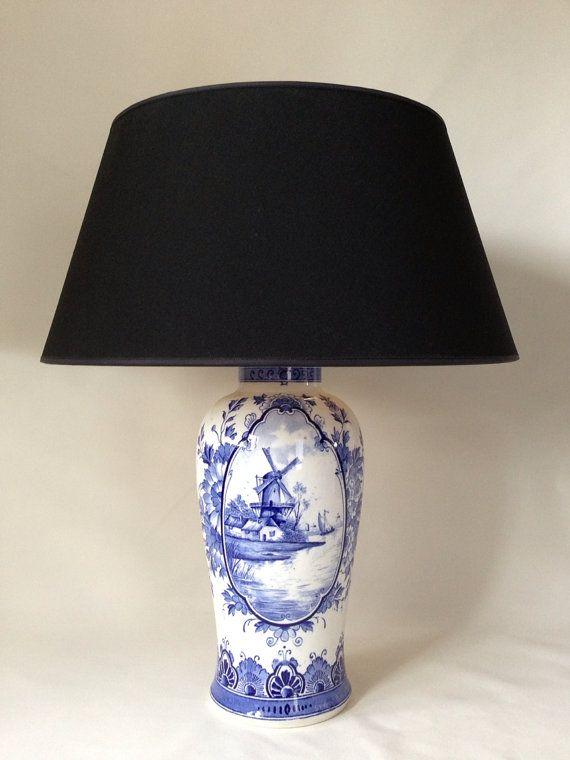 Sale Amazing Antique Porcelain Lamp With By Vintagelampsandmore