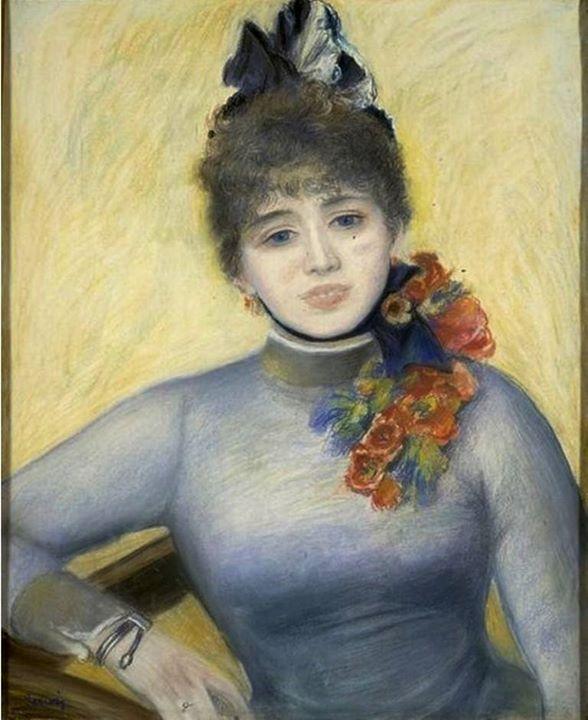 Pierre-Auguste Renoir - Caroline Rémy (Séverine), c. 1885 ...