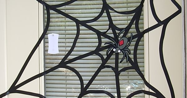 electrical tape spider web - Google Search
