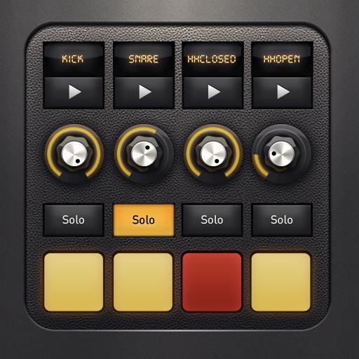 DM1 for iPhone iOS App Icon Drum machine, Ios app icon