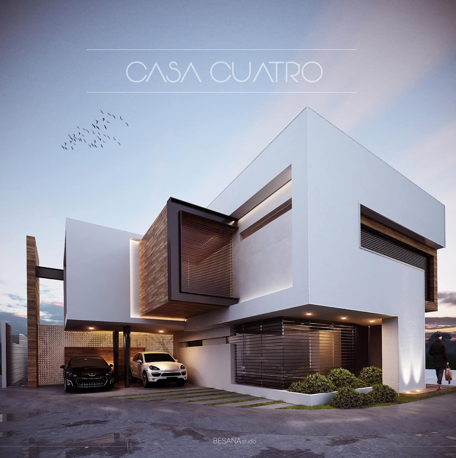 Casa 4 Casas De Estilo Minimalista Por Besana Studio