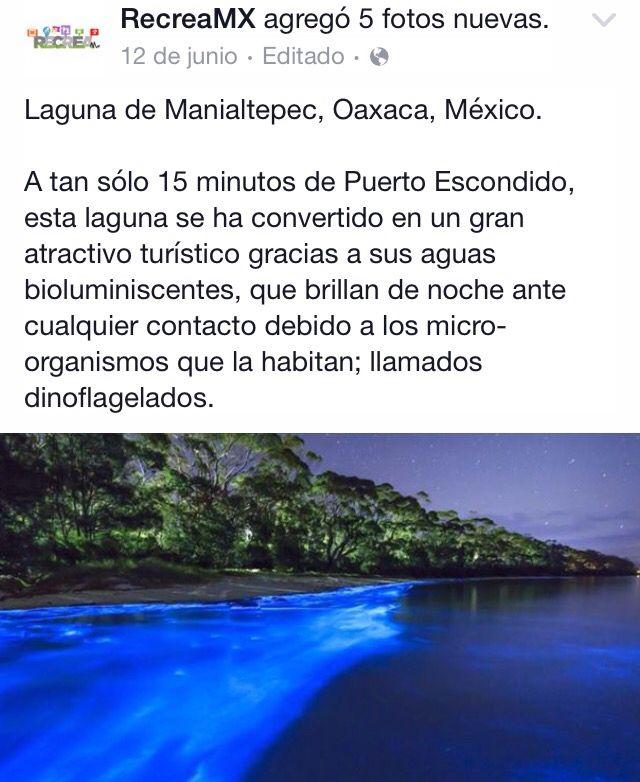 Laguna en Oaxaca