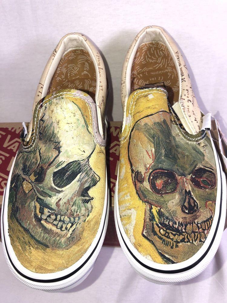 Vans Classic Slip On Vincent Van Gogh Skull Size Us 4 Men 5 5women Nwb Rare Fashion Clothing Shoes Accessories Mensshoes Ath Shoes Skate Shoes Slip On
