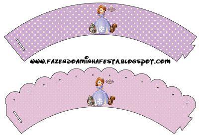 Princesinha Sofia da Disney - Kit Completo com molduras para convites, rótulos para guloseimas, lembrancinhas e imagens!