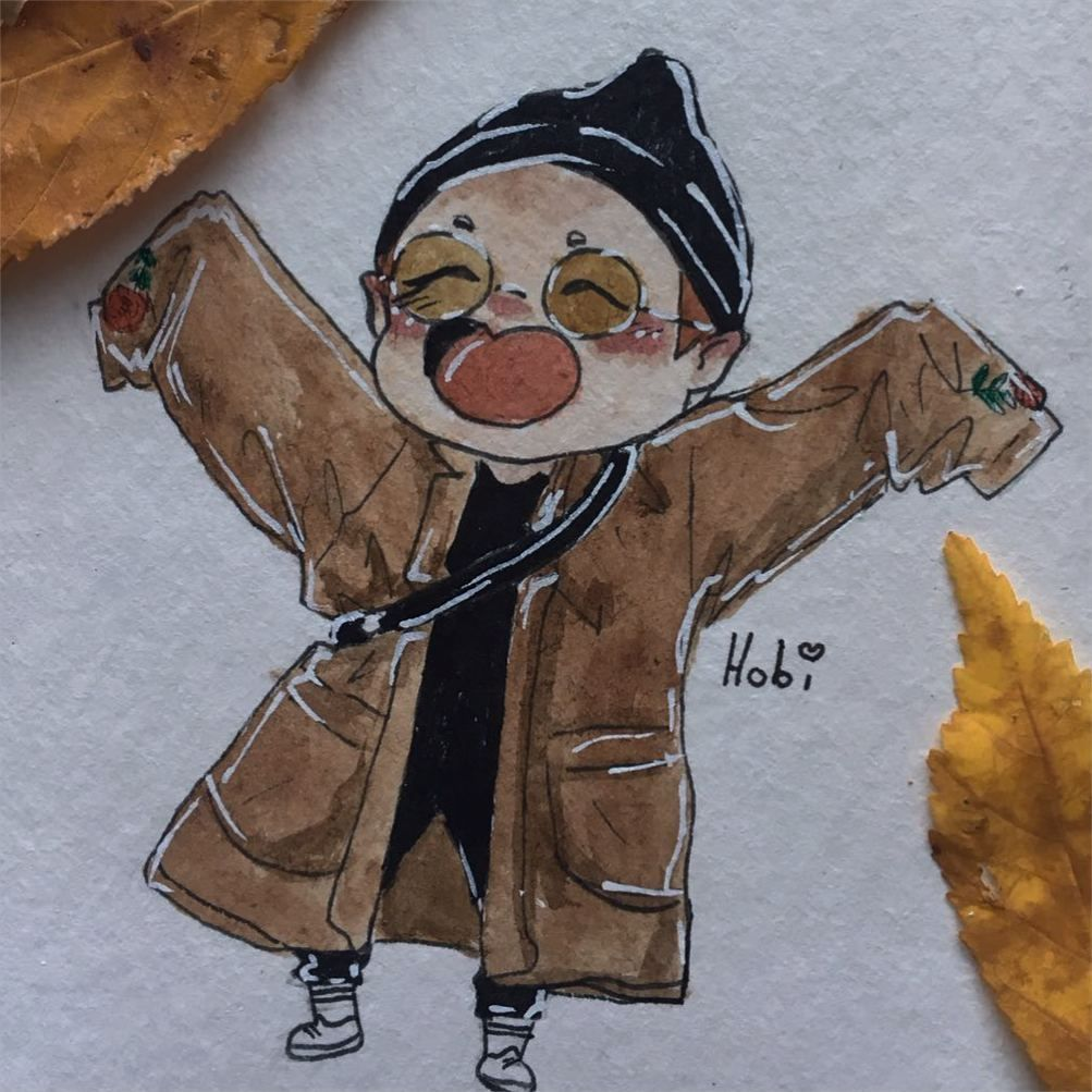 Hobi Bts With Images Bts Drawings Kpop Drawings Korean Art