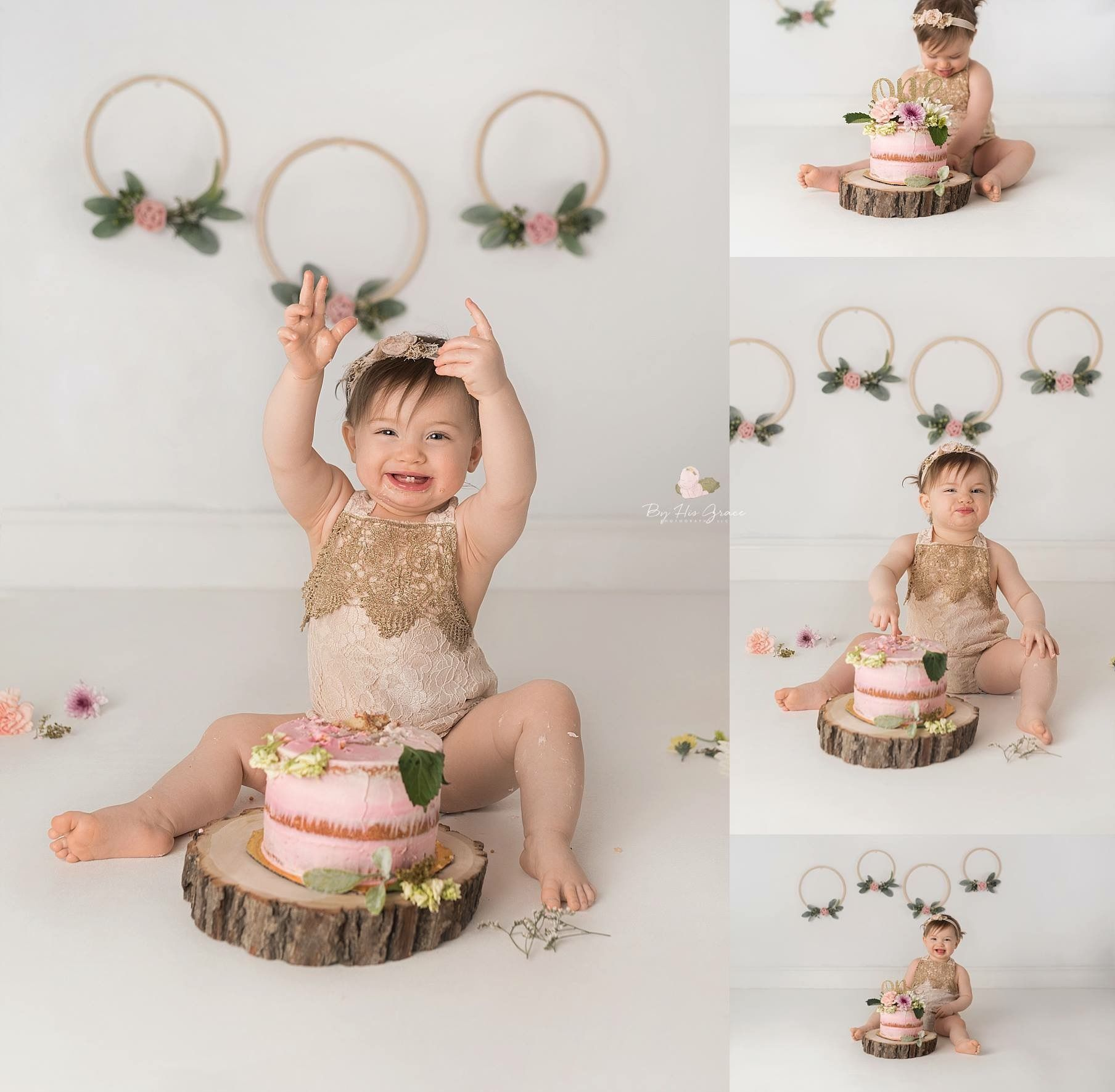Bir Yas Smash cake girl, Birthday cake smash, 1st