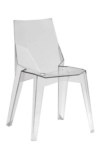 Solo Chair Clear Plastic Ch1136 Cle Whiteline Dining Chair