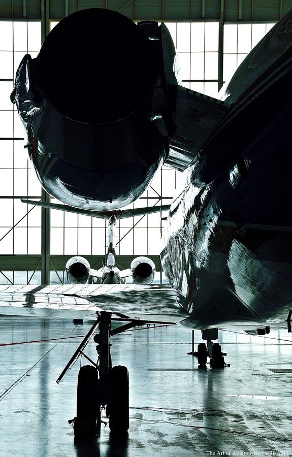Στήν παλιά τεχνική βάση της ΟΑ Olympic Airways technical base ATH/LGAV 30/01/2011