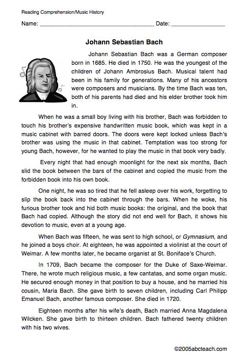Johann Sebastian Bach Biographical Essay