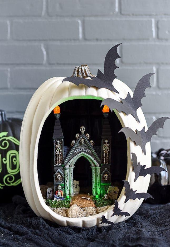 18 Pumpkin Dioramas That Will *Slay* Your Halloween Decor via Brit +
