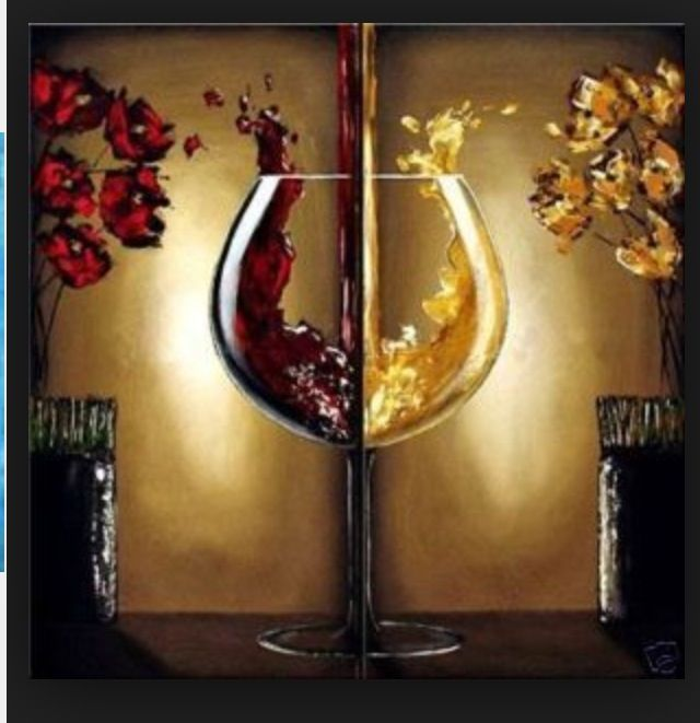 I don\'t drink wine, but I love this painting! | Painting canvas ...
