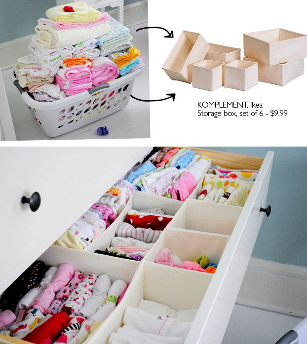 I bought two sets and used them in the girls' dresser. Their drawers are so organized and it's easy to see all of their clothes at once. I am going back for another set to finish up Ava's drawer.