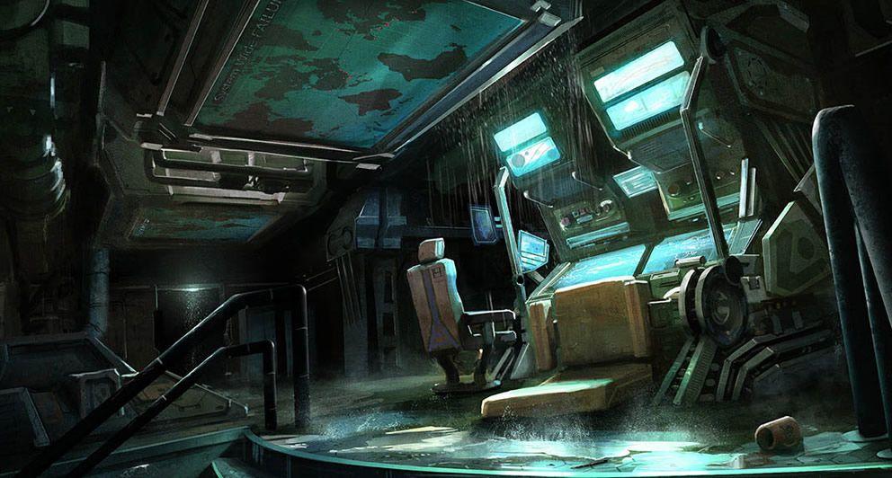 Control station rp settings pinterest concept art for Cyberpunk interior design