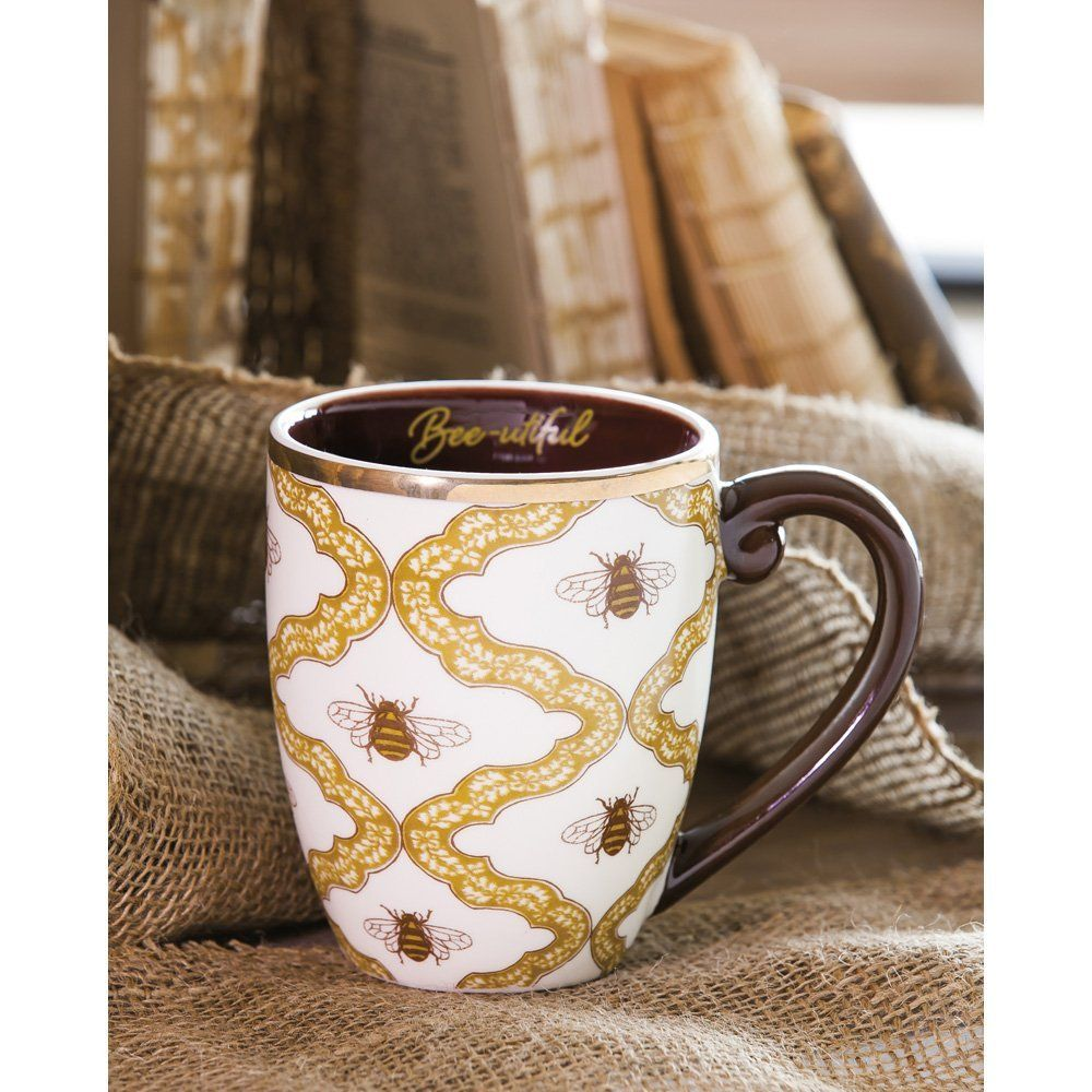 Cypress Home Elegant & Beeutiful Ceramic Coffee Mug, 18