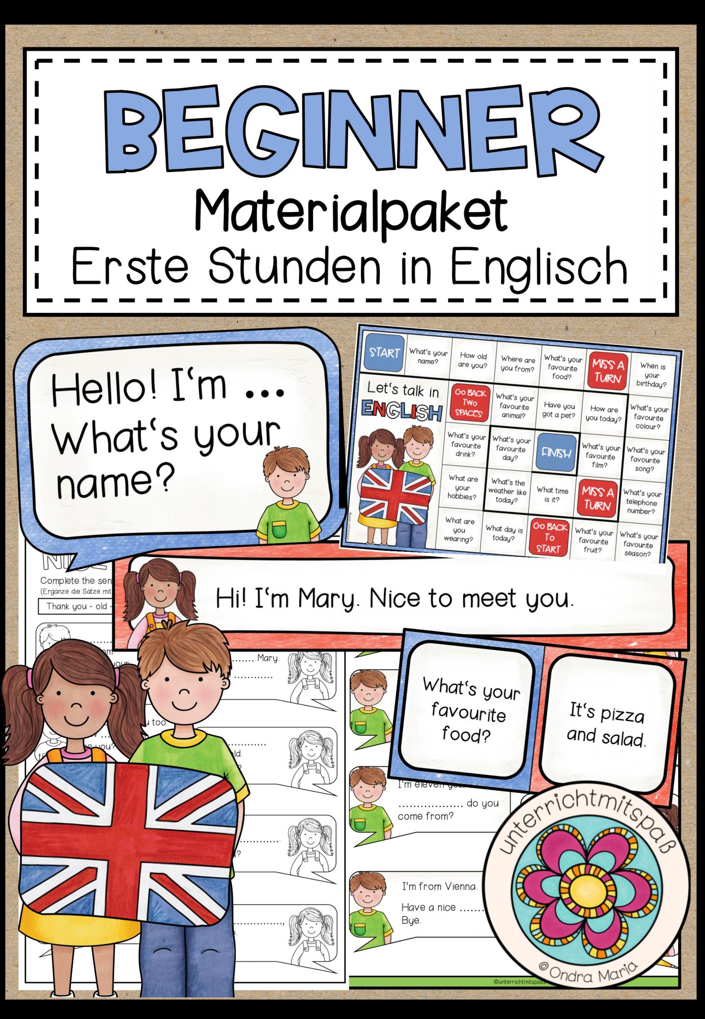 Nice To Meet You English For Beginners Materialpaket Unterrichtsmaterial Im Fach Englisch Englischunterricht Grundschule Grundschule Englisch Grundschule