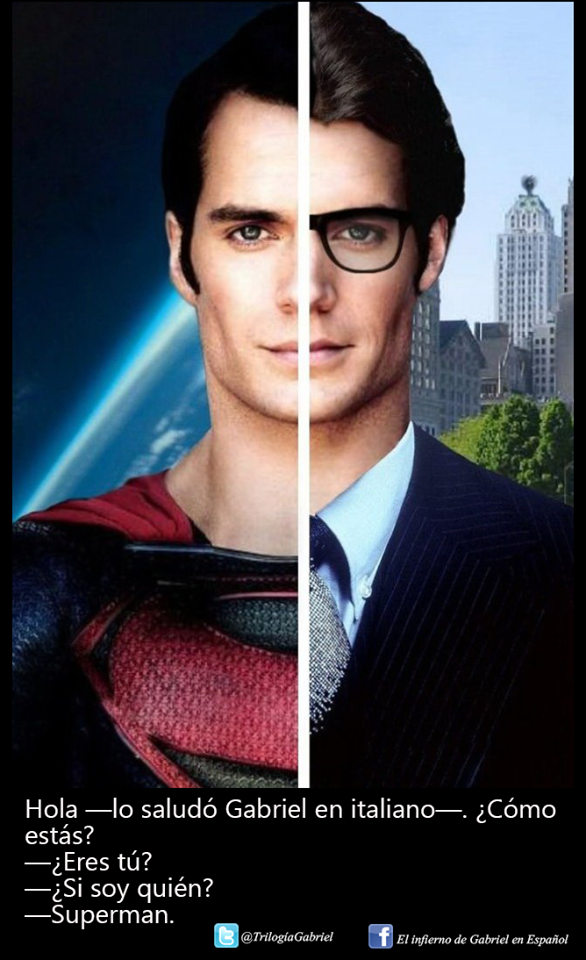 #LaRedenciónDeGabriel #GabrielsRedemption @sylvainreynard #GabrielEmerson #Superman #HenryCavill