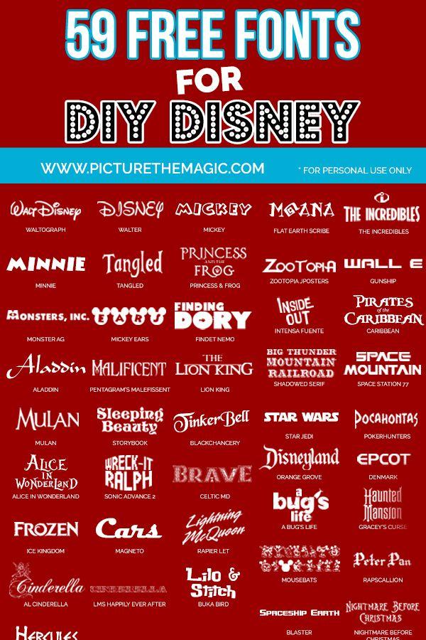 58 Free Disney Fonts   Disney stuff   Disney font free