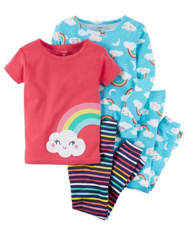 NWT Carter/'s Sz 4T or 5T Boy 4 Piece Cars Cotton PJs Pajamas NEW