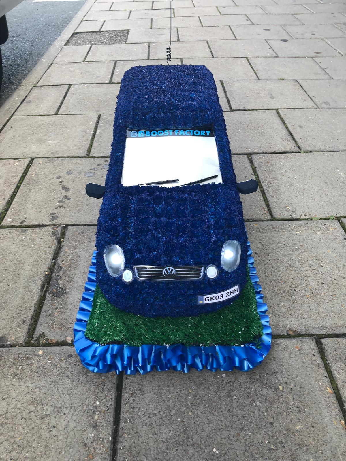 Complete With Customised Sunstrip And Working Headlights Funeral Tributes Funeral Flowers Funeral