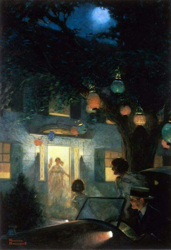 Norman Rockwell 1894 1978 And The Symbol Of Welcome Is Light