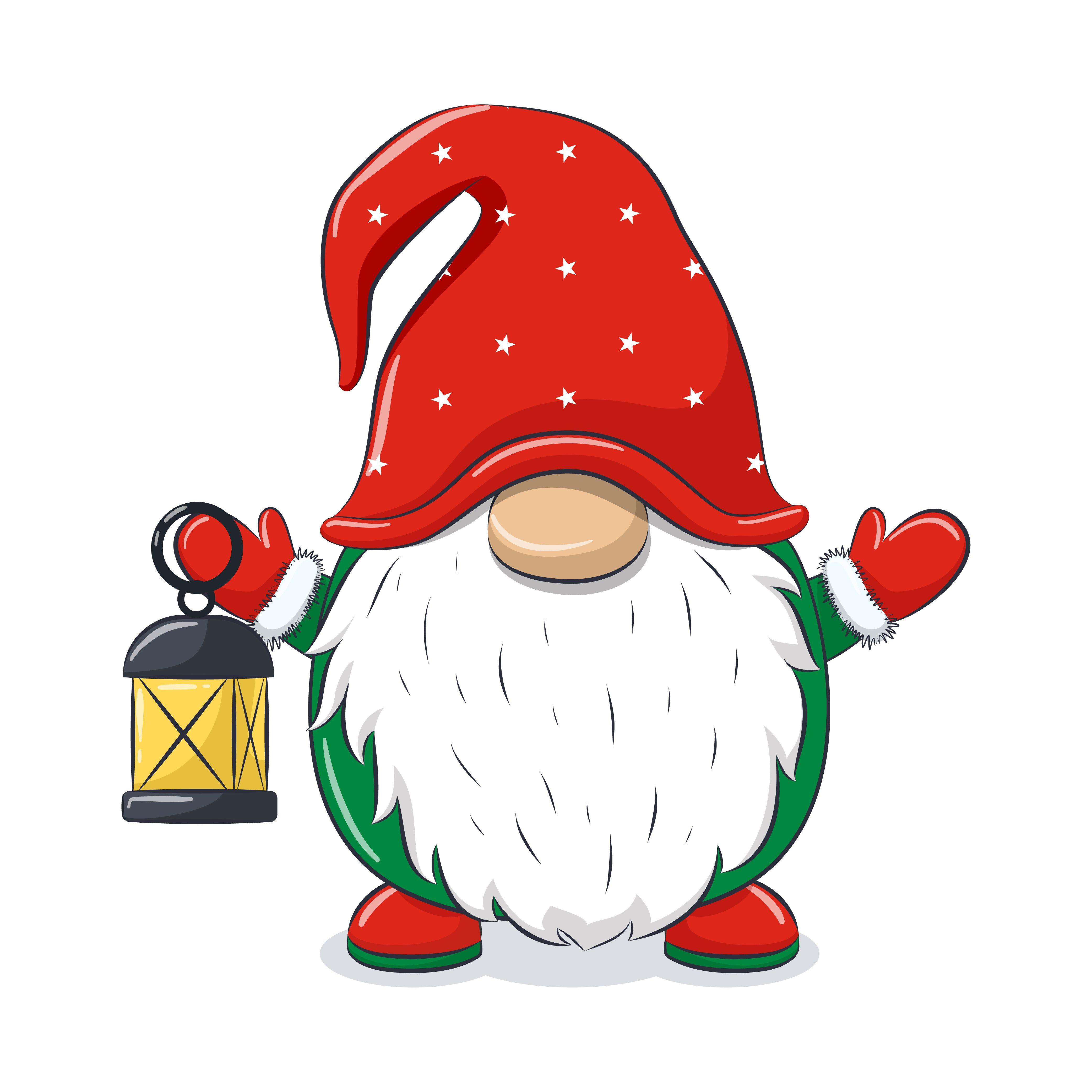 Christmas Gnome Clipart Eps Png Jpeg Nordic Gnome New Year Etsy In 2021 Christmas Gnome Christmas Drawing Christmas Paintings