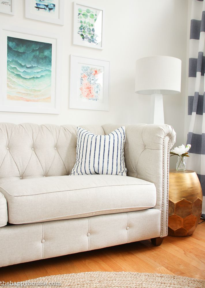 Choosing Living Room Colors: Choosing A Light Coloured Sofa {even With Kids