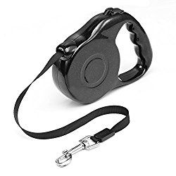 Aipet Retractable Dog Leash   Ribbon Lead For Training, Backyard Use And  Walking Dogs   Easy To Grip Handle   Pet Training (Black)