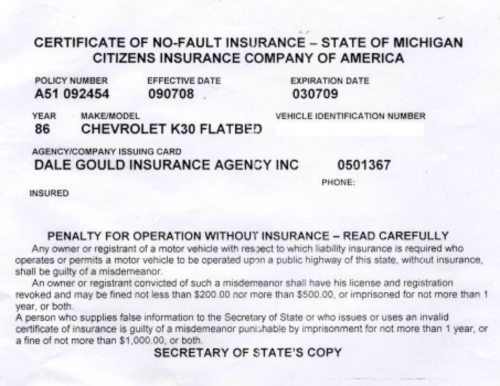 Amazing Fake Proof Of Insurance Templates Template Ideas In Proof