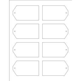 Templates printable tags with strings 8 per sheet for Labels 8 per sheet template word