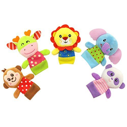 Christmas Doll Finger Puppets Baby Educational Hand Cartoon Animal Toy 5pcs//set