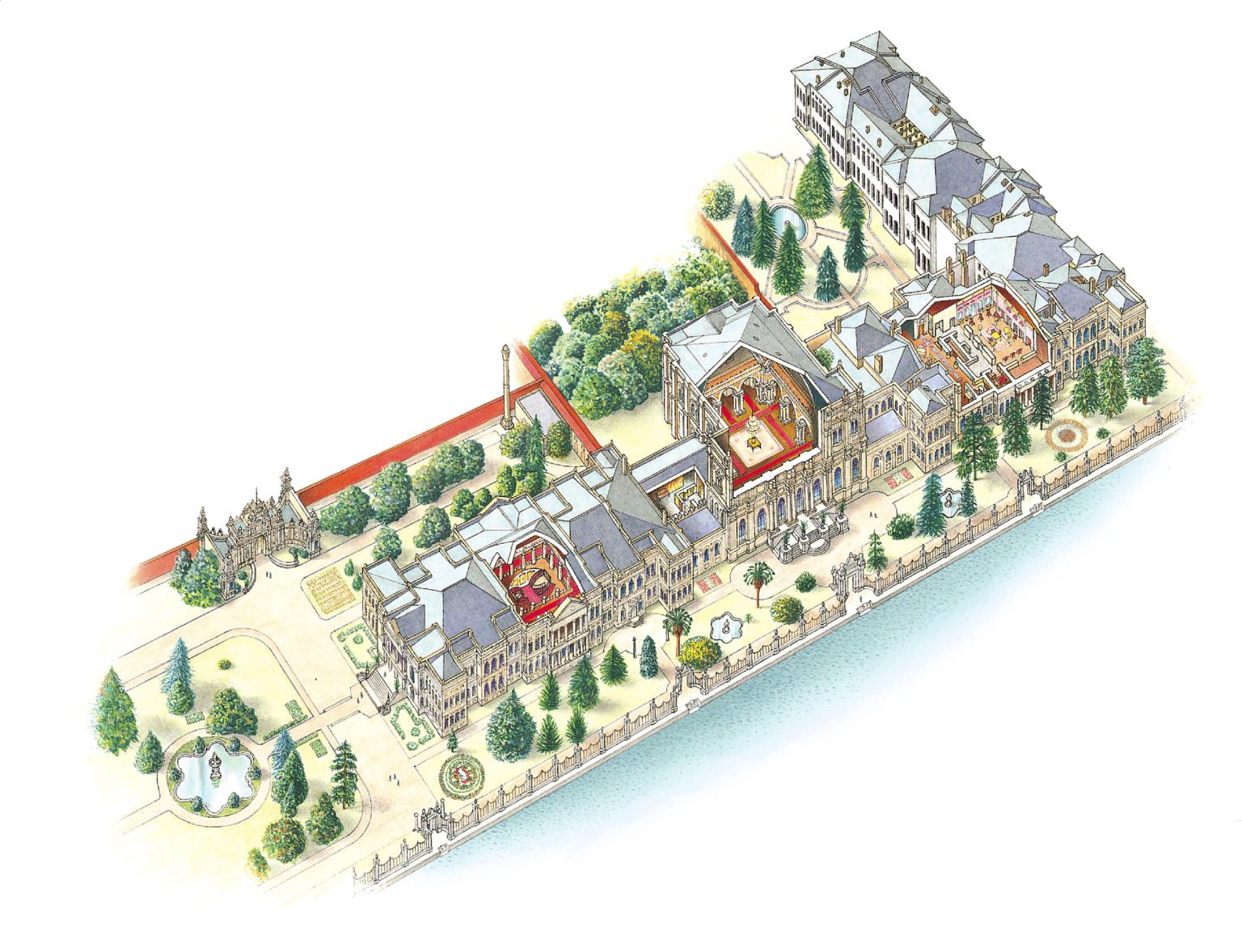 Dolmabahce Palace Illustration Dk Eyewitness Travel Dolmabahce Palace Travel City Guide
