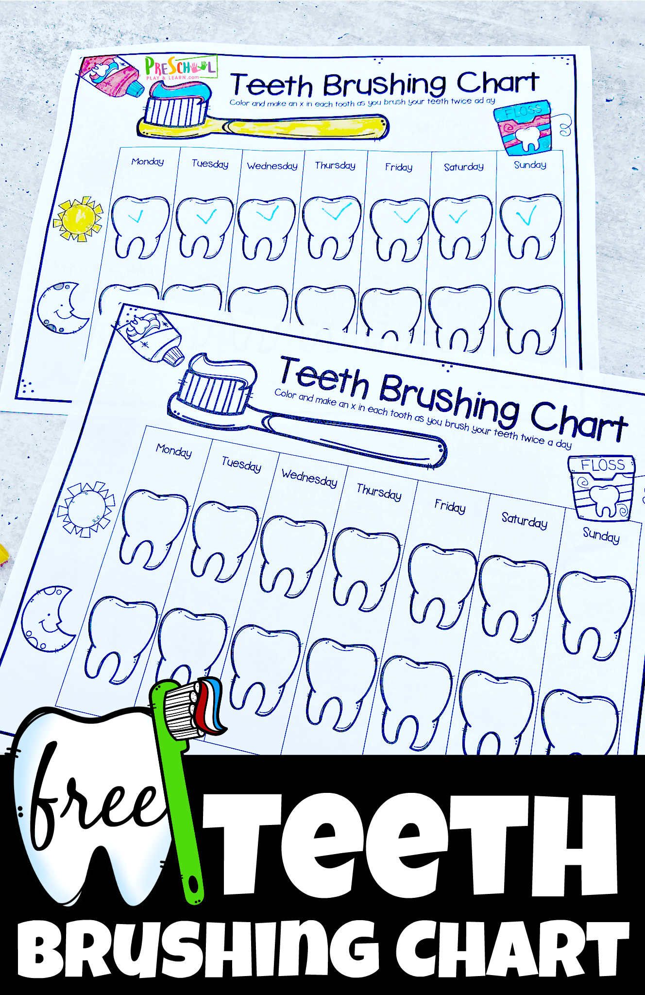 Free Teeth Brushing Chart