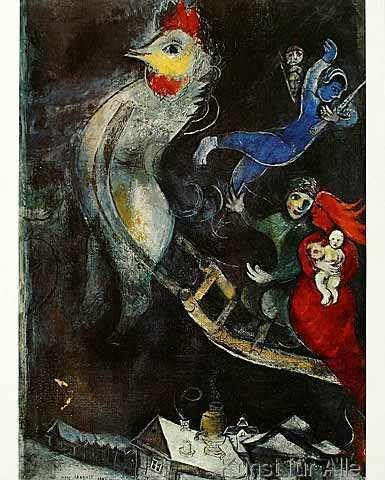 Marc Chagall - Das fliegende Pferd