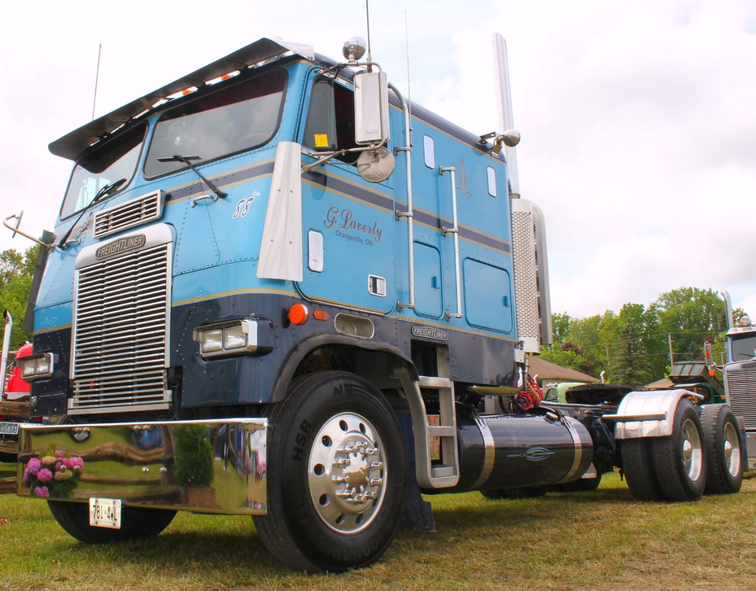 1988 freightliner cabover clifford truck show 2012