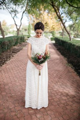 5916fdf212e Dreamers   Lovers Bride Sarah wearing Catherine Simple Bohemian Wedding  Dress