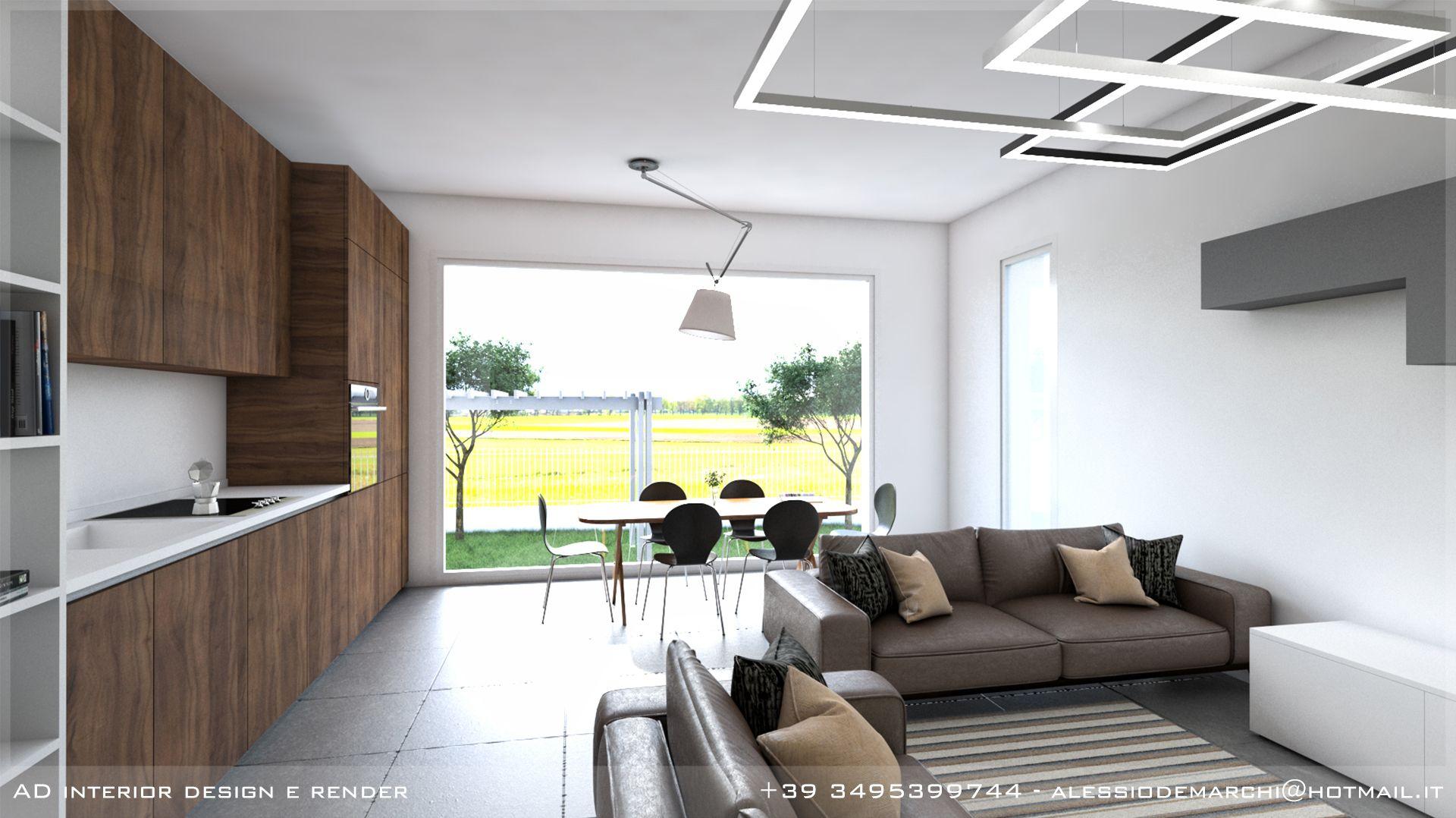 Rendering Soggiorno ~ Render di interni soggiorno stile minimal render interni